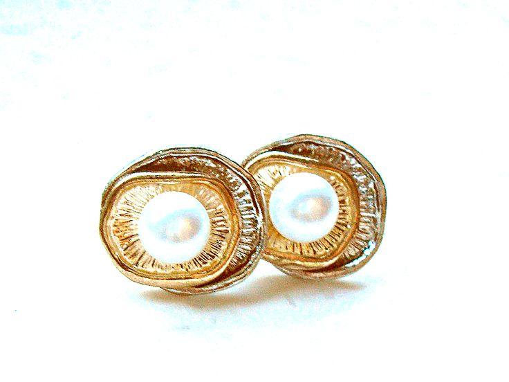 Gold ohrringe perlen
