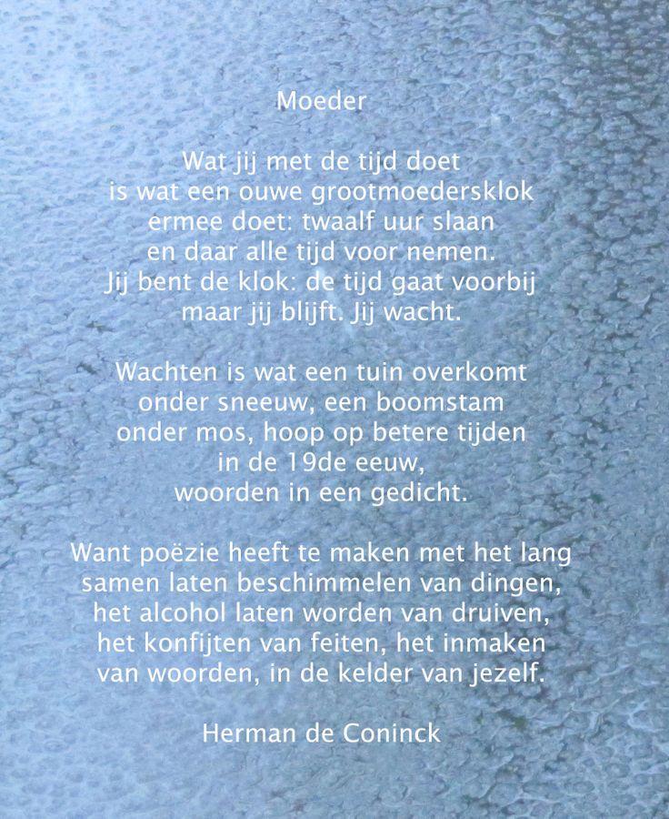 Moeder - Herman de Coninck | gedichten | Pinterest