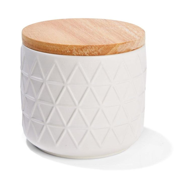 Embossed Canister - Small, White | Kmart