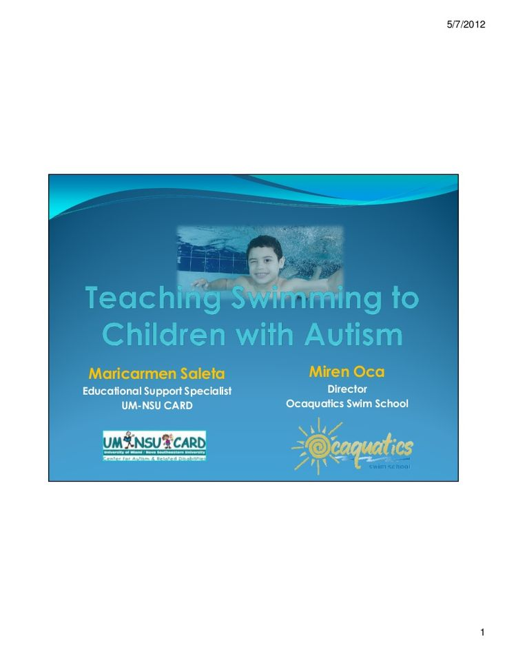 how to teach autistic child swim