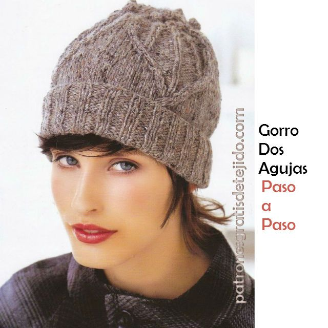 Best 464 Punto a dos agujas Gorros images on Pinterest | Capuchas ...
