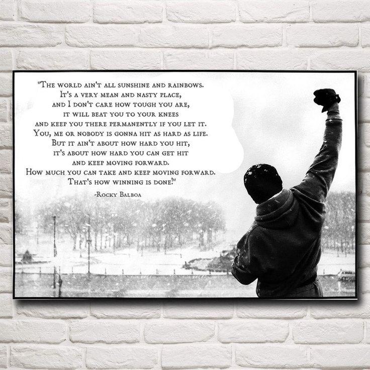 Rocky Balboa Life Is Hard Quote: 1000+ Rocky Balboa Quotes On Pinterest