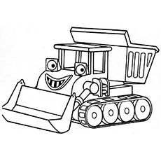 print coloring image - Construction Trucks Coloring Pages