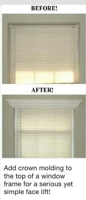 Crown molding to window