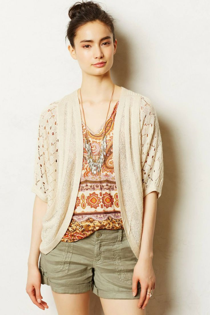 Anthropologie  Pointelle Cocoon Cardigan