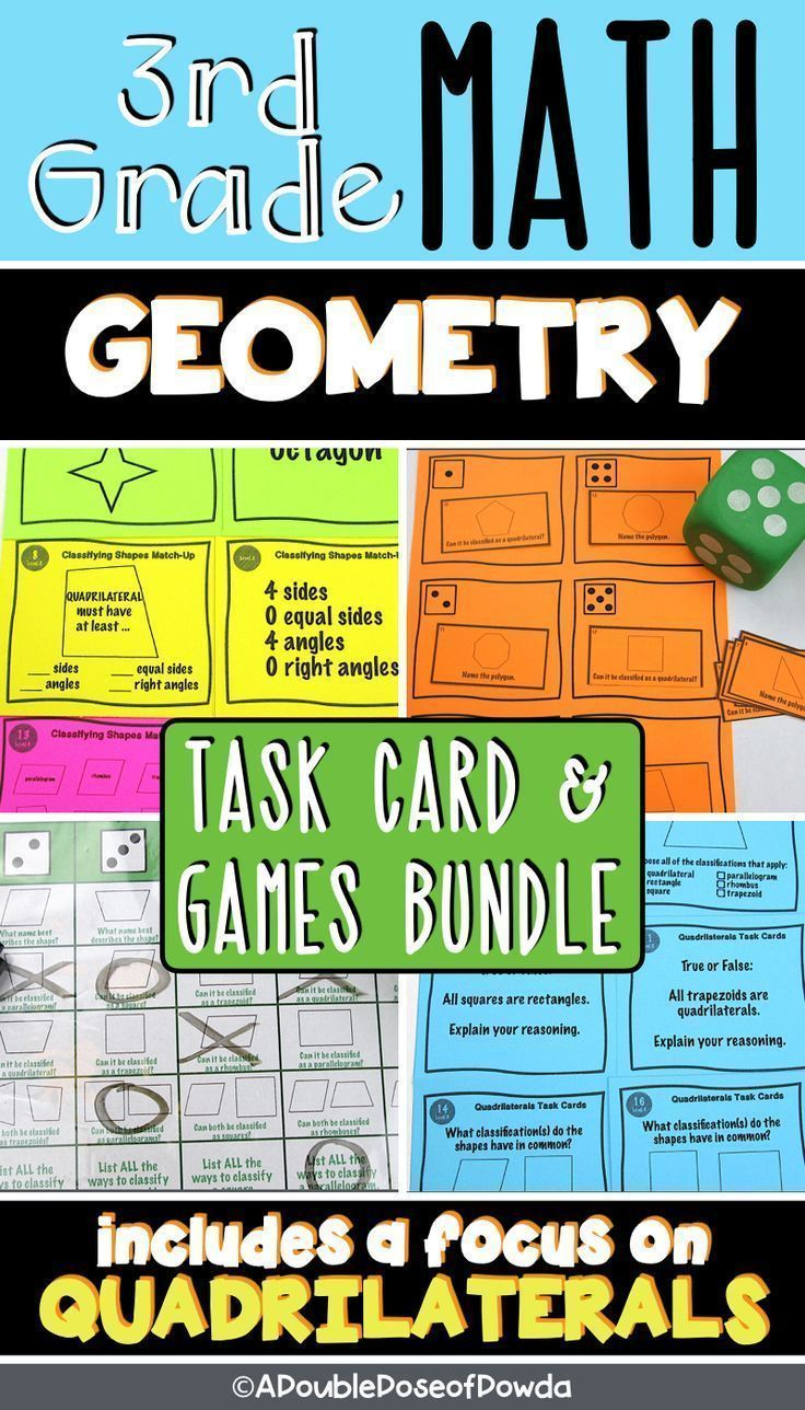 Quadrilaterals And Polygons Geometry Centers Games Bundle Elementary Math Games Elementary Math Centers Elementary Math Classroom