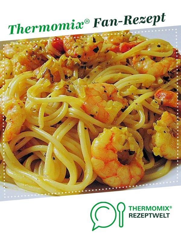 Garnelen Spaghetti Töpfchen von HotTomBBQ. Ein Thermomix ® Rezept aus der Kategorie Hauptgerichte mit Fisch & Meeresfrüchten auf www.rezeptwelt.de, der Thermomix ® Community.