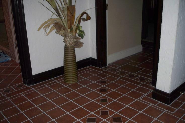 Upstairs tile floor