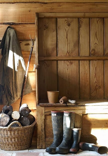 The boot room, mud room, little bit of everything room...............................