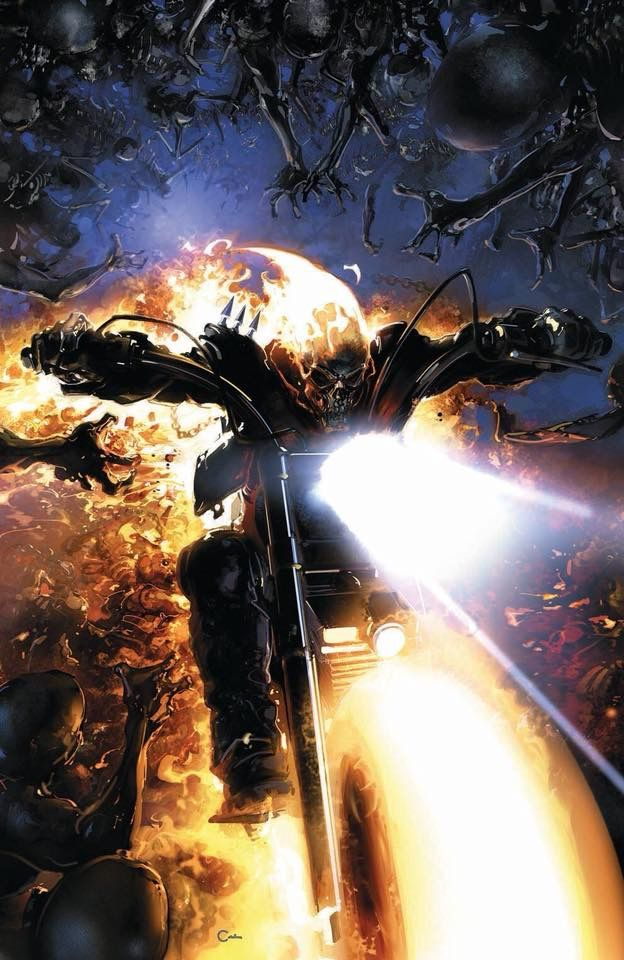 Marvel Comic Book Artwork • Ghost Rider by Clayton Crain. Follow us for more awesome comic art, or check out our online store www.7ate9comics.com