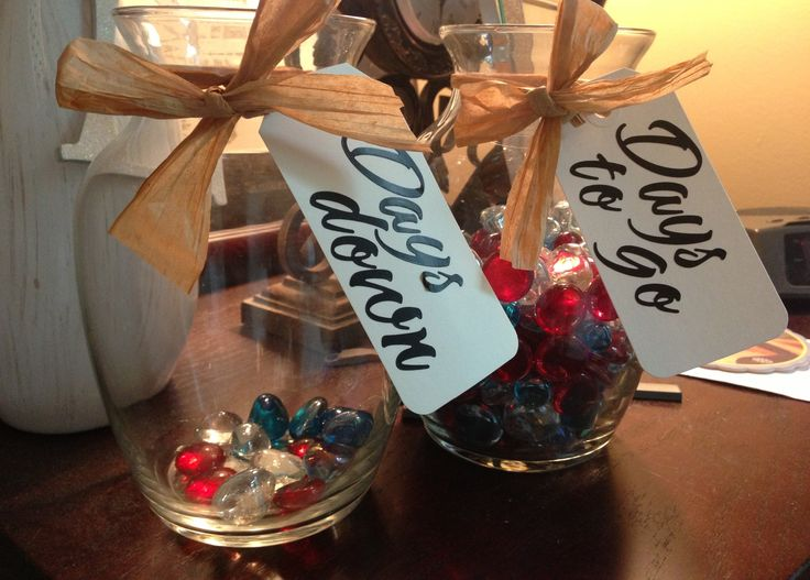Countdown jars I made :) #armystrong #milso #deployment