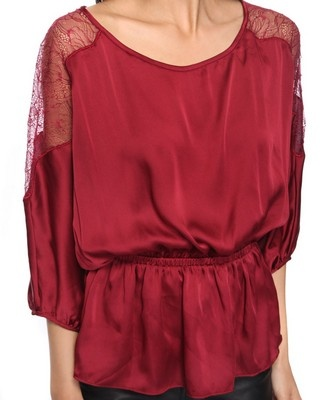 lace shoulder silky topForever21 Shirts, Lace Tops, Red Lace, Silky Tops, Estilo Personalized, Lace Shoulder, Shoulder Silky