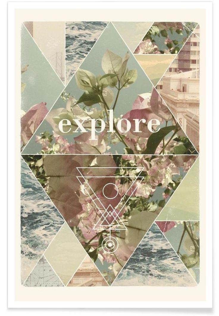 Explore journey graphic design. Explore I Art Print by Speakerine now on Juniqe.com   Art. Everywhere.