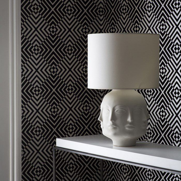 The Hypnotist Wallpaper in Mono by Barbara Hulanicki for Graham