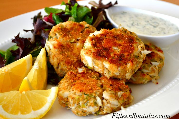 Crab cakes & tangy tartar sauce - special occasion recipe!