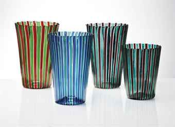 Venini.  A canne, vases, 1955.