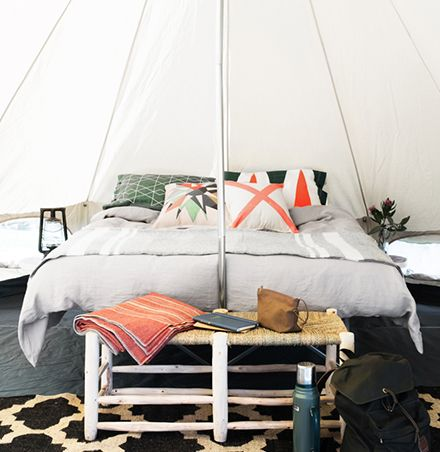 High quality canvas bell tent. Designed for Australian conditions. Perfect for outdoor adventures, camping holidays and festivals. Free Shipping. Buy now!