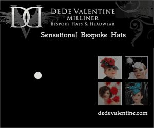 Bespoke Hats & Headwear banner design size 300 x 250 pixels. One of two banners designed for Milliner DeDe Valentine.  Visit http://www.bipbanners.co.uk/html/portfolio.html to view 468 x 60 banner design created for this hat designer and hat maker.
