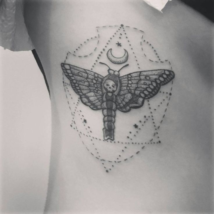 Moth tattoo by Pabllo13