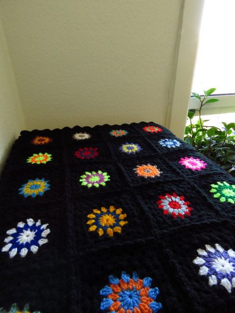 Colorful Crochet Afghan Blanket Crochet Blanket by Phoenixsmiles
