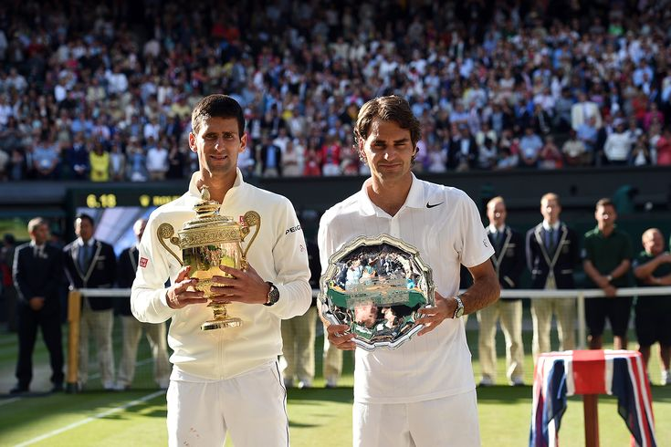 Novak Djokovic and Roger Federer - Jon Buckle/AELTC