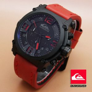 Quicksilver 6605 (Red Leather List Red) | Jual Jam Tangan