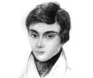 """Évariste Galois, French mathematician. He determined necessary and sufficient condition for a polynomial to be solvable by radicals, thereby solving a long-standing problem. His work laid the foundations for Galois theory and group theory. He was the first to use the word """"group"""" as a technical term in mathematics to represent a group of permutations. A radical Republican during the reign of Louis Philippe. He died from wounds suffered in a duel at the age of 20"""