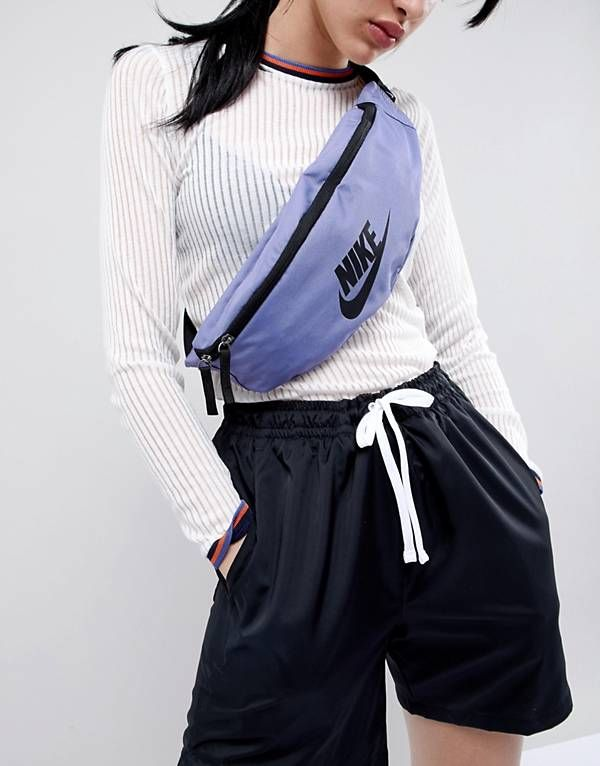 Nike - Sac banane à logo - Violet | look en 2019 | Sac ...