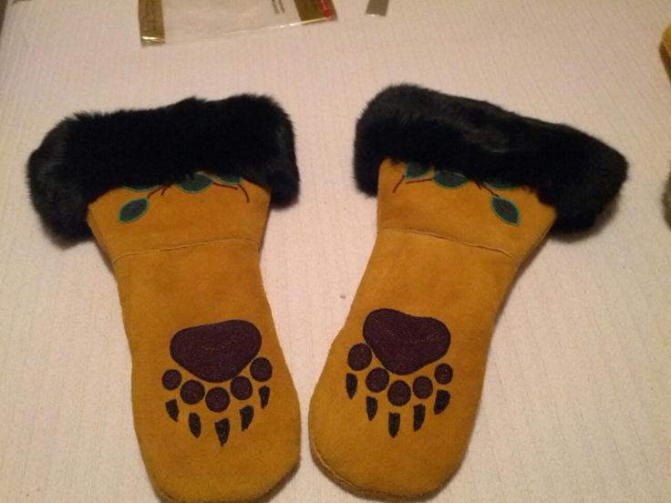 mens moose hide mitts