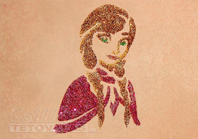 Jágvarázs Anna csillámtetoválás sablon #glittertattoo #frozen #elsa