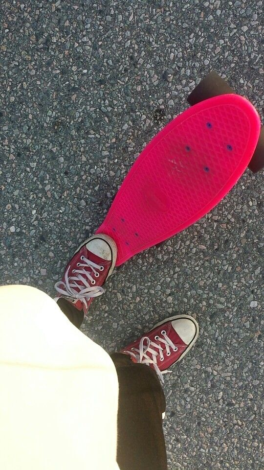 If you ask, I am a pennyboarder with Converse