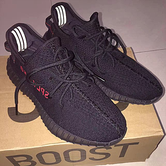 ADIDAS YEEZY BOOST 350 V2 CP9652 BRED BLACK RED SZ 13