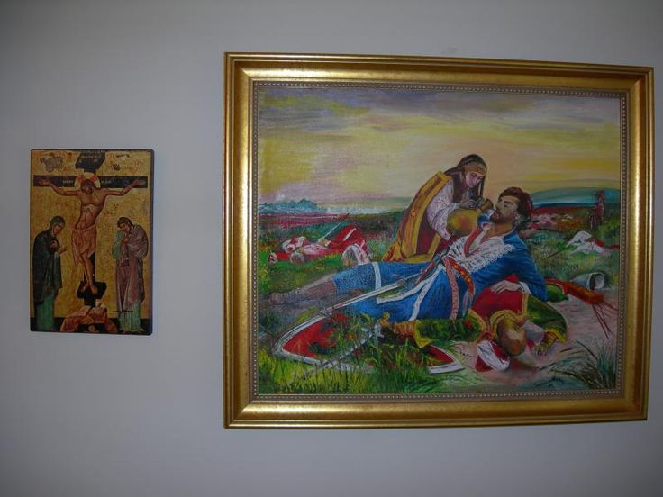 Maiden of Kosovo painting bought in 1989 while in Voyvodina before traveling to Kosovo for the 600th Anniversary of the Battle of Kosovo with Rose who purchased this for me for my birthday.