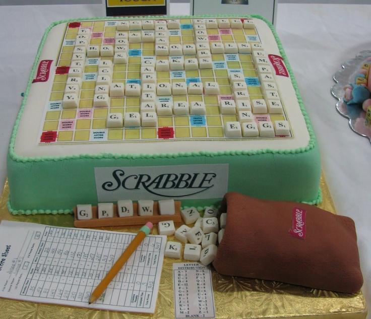 scrabble cake - amazing detail
