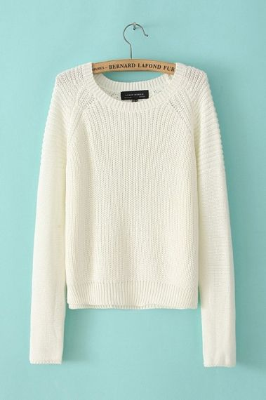 Best 25  White sweaters ideas on Pinterest | White knit sweater ...