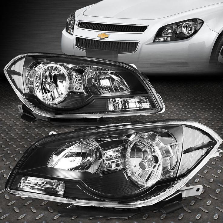 FOR 2008-2012 CHEVY MALIBU PAIR BLACK HOUSING CLEAR CORNER HEADLIGHT/LAMP SET | eBay Motors, Parts & Accessories, Car & Truck Parts | eBay!