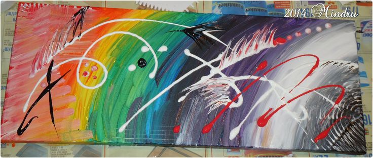 DOWNLOAD - My #5 abstract project on canvas -  only acrylics