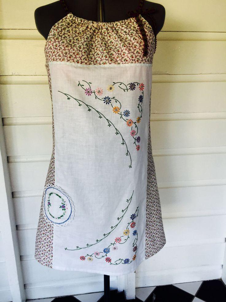 Size 12 embroidered dress by StitchedUpBySmith on Etsy