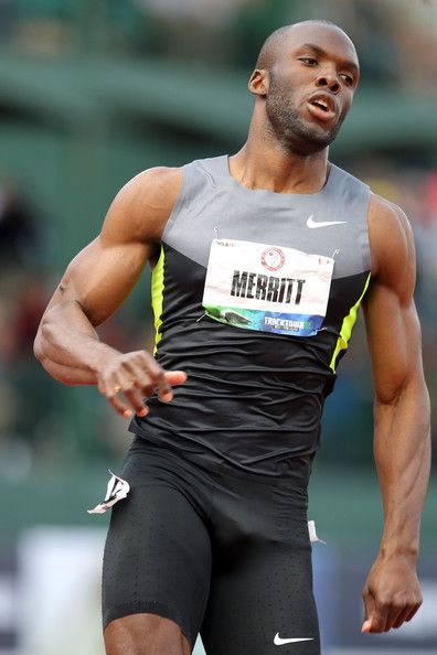 Lashawn Merritt  Lashawn Merritt, 26  Sport: Track and Field   Best Feature: Arms   We already know Lashawn looks good in a track jacket, so why not one with a cool retro twist?