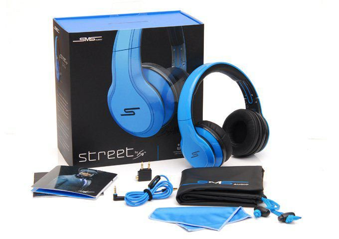 SMS Audio SYNC By 50 Cent Over-Ear Wireless Headphones - Blue