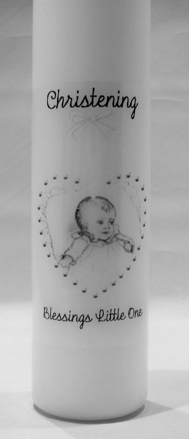 Baptism Candle, Christening Candle, Can be Personalised, Personalized Candle, Godchild Gift, Baptism Present, Christening Present by TheCandleandCardCo on Etsy