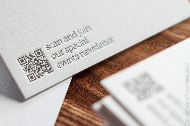 Высокая печать в 1 цвет на сером хлопке, плотностью 700 гр.  #высокаяпечать #letterpress #визитки #6hands