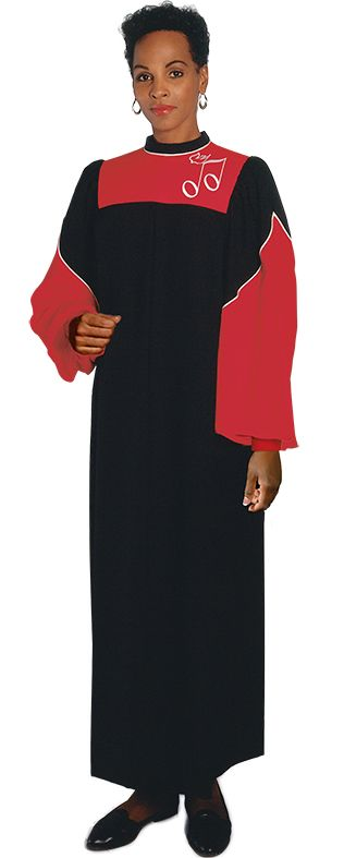 A dynamic division of color sparked by contrasting corded piping makes the ACT 24 choir robe a standout. Available custom tailored in your choice of fabrics and colors.
