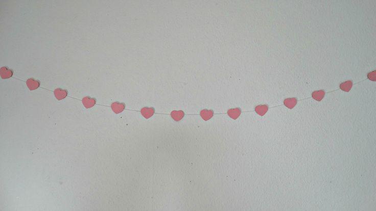 Valentine DIY - Heart Garland.