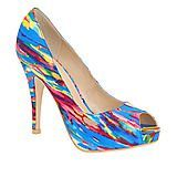 These jaw-dropping platform pumps feature an eclectic print and will contrast gorgeously with more toned down outfits.