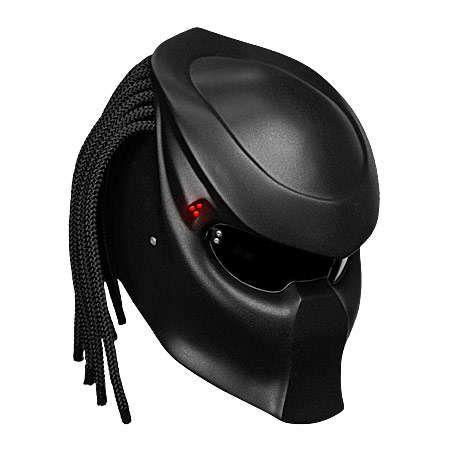 NLO MOTO's Novelty #Motorcycle #Helmet Transforms Riders to Predators trendhunter.com