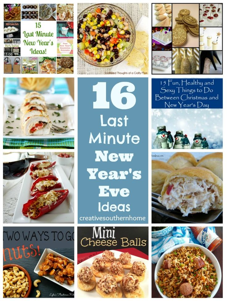 57 best home happy new year images on pinterest family for Last minute party food