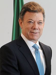 """Juan Manuel Santos (1951 - ) the 32nd and current President of Colombia and sole recipient of the 2016 Nobel Peace Prize.... """"for his resolute efforts to bring the country's more than 50-year-long civil war to an end, a war that has cost the lives of at least 220,000 Colombians and displaced close to six million people"""""""