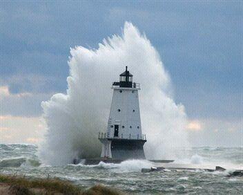 Ludington Michigan lighthouse