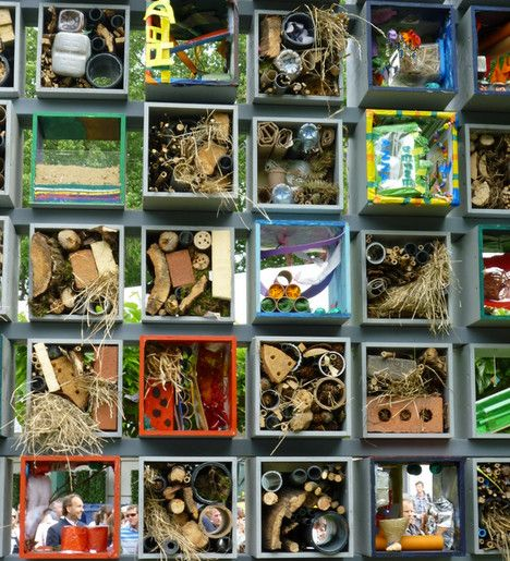 Insect-hotels; some inspiration for more colorful and creative models. Great for children! (As well as adult children ;))